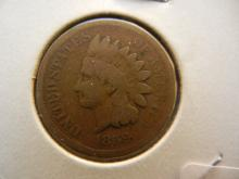 1859 Indian Head Cent.  Nice good with rotated reverse.  Unusual.