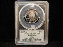 2007-S Silver Washington State Quarter PCGS PR 69 DCAM