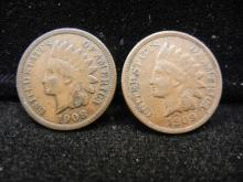 1908 & 1909 Indian Head Cent