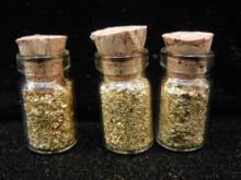 3 Mini Vials of Gold Flakes