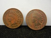 1902 & 1903 Indian Head Cents