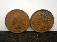 1901 & 1902 Indian Head Cents