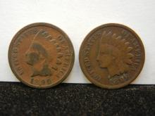 1896 & 1899 Indian Head Cents