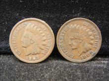 1906 & 1907 Indian Head Cents