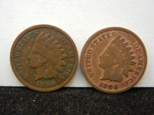 1908 & 1909 Indian Head Cents