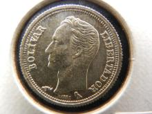 1960 25 Centimos from Venezuela Silver