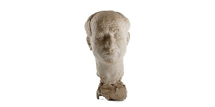 Jacob Loutchansky - Clay sculpture of a man's head