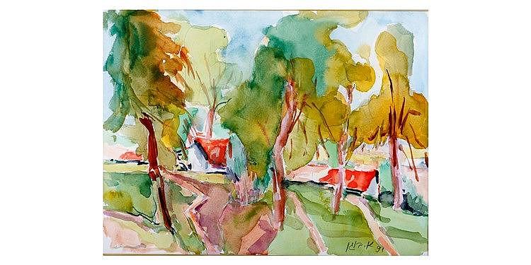 Alexander Bogen - 'Red Roofs'