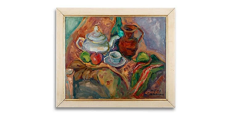 Rika Schwimer - 'Still Life with a Teapot'