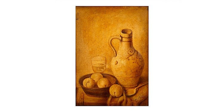 Benish Mininberg - 'Still Life with Apricots'
