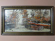 Morris Katz-Beautiful landscape painting 1971
