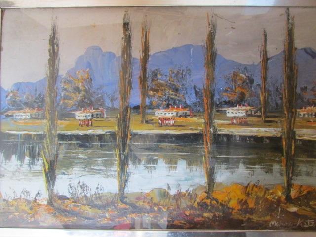 Morris katz beautiful landscape art 1971 for Katz fine art