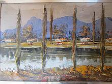 Morris Katz- Beautiful Landscape Art 1971