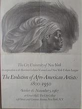 Charles Wilbert White (1918 - 1979)-The Evolution Of Afro-American artist  Signed  & Dated