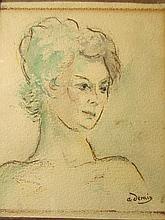 André Derain (French, 1880–1954)-Portrait Of A Women