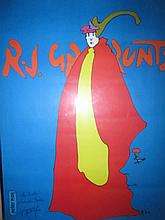 Peter Max (American, born 1937)- RJ Grunts Chicago Poster. Signed.