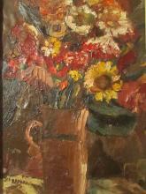 Joseph Raphael (American, 1869–1950)-Art-Floral oil painting
