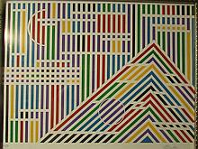 Gisela Beker (American/German, born 1932)- Diversified Pyramid- A/P serigraph