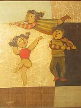 J.Roybal- DANCER & MUSICIANS Oil on canvas