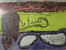 Robert Motherwell- Watercolor Painting (American, 1915–1991) Signed Dated and Stamped