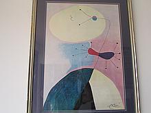 Joan Miró- Signed Portrait Art Print (1893-1983). (24x17in.)