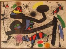 Joan Miró (1893-1983) Untitled serigraph signed 19 x 22