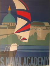 nancy hammond- Poster Of A Sailboat signed