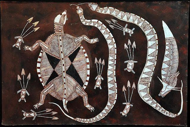LOFTY NABARDAYAL NADJAMERREK (1926-) (Australian)