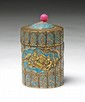 A Jeweled Cloisonne Box With Cover