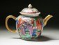 A Chinese Qing Export Famille Rose Porcelain Teapot