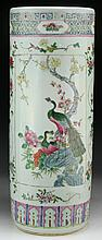 A Massive Chinese Antique Famille Rose Porcelain Brush Pot