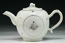A Chinese Antique Grisaille Glazed Porcelain Teapot
