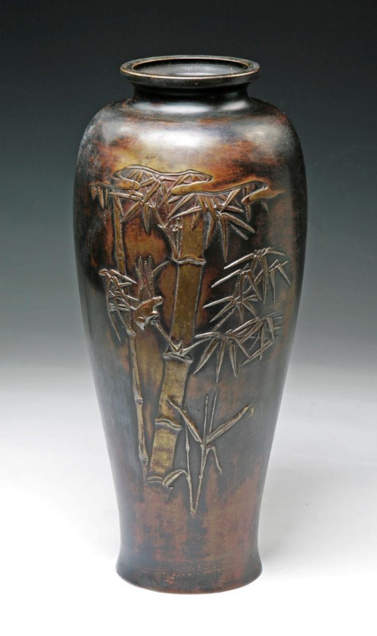 A japanese antique bronze vase for Asian antiques uk