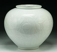 A Chinese Antique White Glazed Porcelain Jar