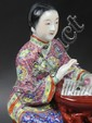 Chinese Famille Rose Porcelain Statue