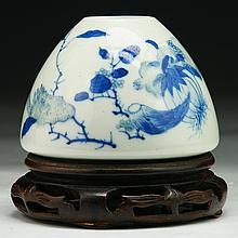 A Chinese Antique Blue & White Porcelain Water Dropper