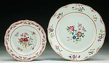 Two (2) Chinese Antique Famille Rose Porcelain Plates