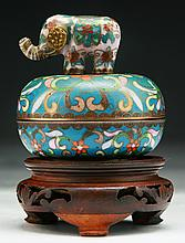 A Chinese Antique Cloisonne On Bronze Music Box