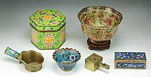 Six (6) Chinese Antique Cloisonne Bronze Items
