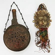 Two (2) Bronze Tibetan Or Like Items