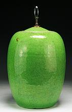 A Chinese Antique Green Lidded Porcelain Jar