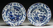Pair of Chinese Antique Blue & White Porcelain Plates