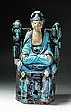 A Chinese Antique Ming Fahua Pottery of Guanyin