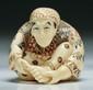 A Japanese Antique Carved Ivory Netsuke Figure