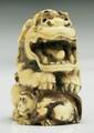 A Japanese Antique Carved Ivory Netsuke