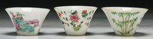 Three (3) Chinese Antique Famille Rose Porcelain Bowls