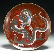 A Big Japanese Antique Cloisonne Plate