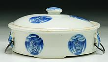 A Chinese Antique Blue & White Porcelain Bowl With Cover