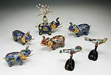 Group Of Seven (7) Chinese Cloisonne Items