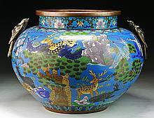 A Massive Chinese Antique Cloisonne Bronze Jar
